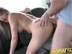 fake cab euro damsel boinked with rock rock hard dick facial cumshot