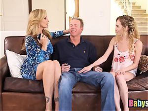 lil' Angel Smalls shares phat spear with Julia Ann