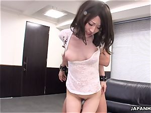 highly super-fucking-hot three way shag in the office for the bitch