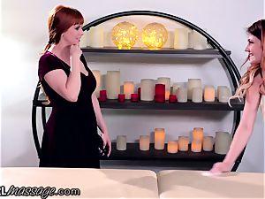 girl/girl teenager masseur Adria Rae