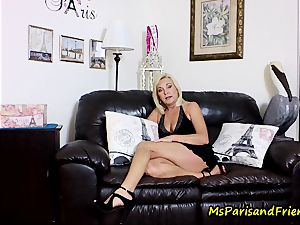 cum on Mommy's breasts with Ms Paris Rose
