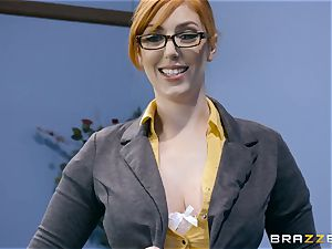 hard-on thirsty Lauren Phillips smashed in her ginger gash