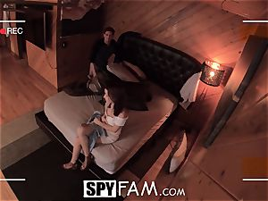 SPYFAM nosey Step sister drools over penis images