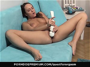 QUEST FOR climax - stunning Blue Angel solo masturbation