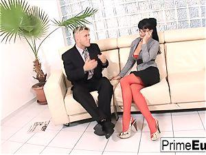 Aletta Ocean gets anally nailed on the sofa