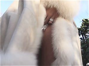 big breasted french light-haired stunner Chloe Lacourt rails yam-sized pillar fuckpole