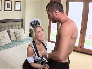 scorching maid Capri Cavanni gives her boss some extras