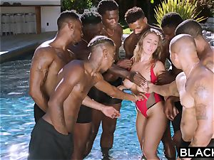 BLACKED Lena Paul first bi-racial group sex