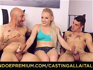 CASTNG ALLA ITALIANA - platinum-blonde vixen raunchy double penetration bang-out
