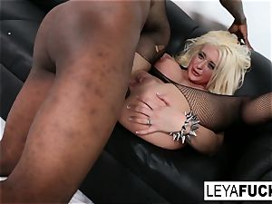 super hot ginormous tittie blonde Leya gets her arse ravaged