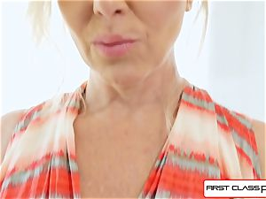 FirstClass pov - enjoy Julia Ann deepthroating a fat immense salami