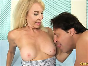 grandma Takes a man meat in Her Cakehole