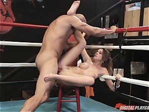 Alexis Adams labia wrinkled in the boxing ring by enormous schlong