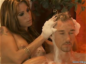 sensual rubdown For His weary man meat