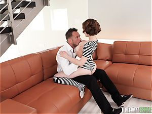 Ginger Aria Skye tucked in her super-fucking-hot raw eager cunny by Johnny