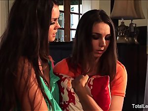 big-chested stunner Alison helps Tiffany get over a breakup