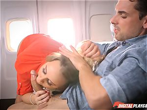 nasty stewardess Alexis Adams screwing with the passengers